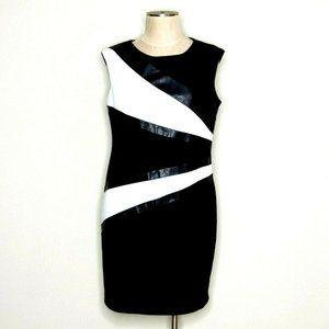 Calvin Klein Ponte Knit Dress Contrast Panels
